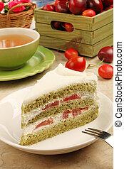 Delicious cherry tomato cake