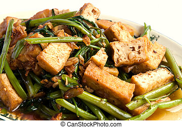 Delicious Chinese vegetarian with bean curd