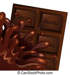 delicious chocolate design, vector illustration eps10 ...
