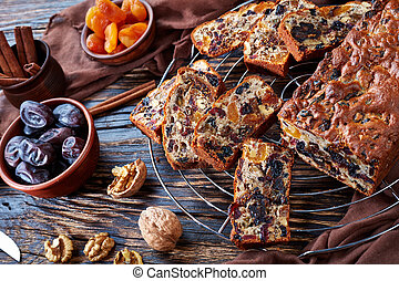 delicious chunky dried fruits loaf cake
