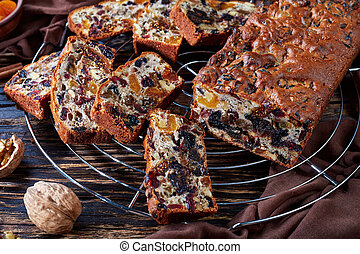 delicious chunky dried fruits rich cake