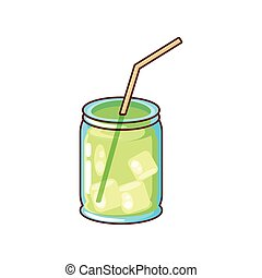 delicious cocktail on white background