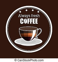 delicious coffee always fresh poster