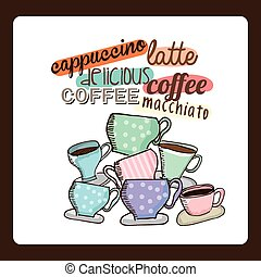 delicious coffee design, vector illustration eps10 graphic