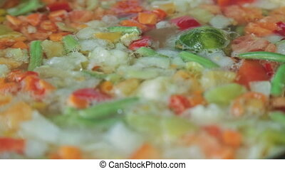 Delicious colorful vegetable