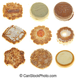 Delicious cookies isolated over white background