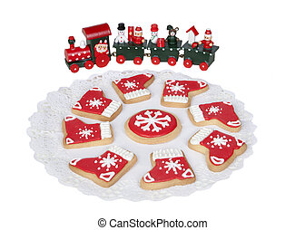 Delicious cookies with Christmas shapes
