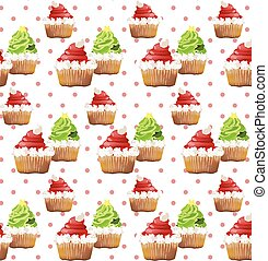 Delicious Cupcakes pattern