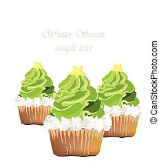 Delicious Cupcakes Vector