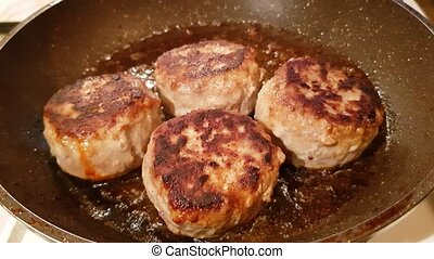 Delicious cutlets of minced meat - Juicy appetizing cutlets...
