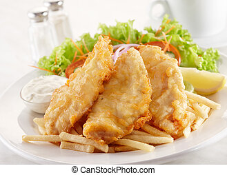 deep fried cobia - delicious deep fried cobia, shallow depth...