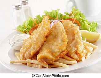 deep fried cobia - delicious deep fried cobia, shallow depth...