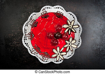 Delicious dessert on plate