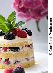 Delicious dessert - Delicious layered dessert filled with...