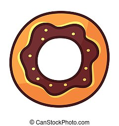 delicious donuts on white background