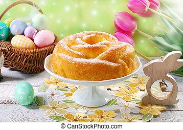 easter cake in rose shape