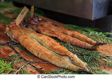 Delicious eel fish