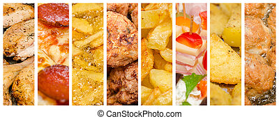 Delicious Fast Food Collage