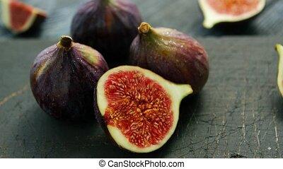 Delicious figs in closeup