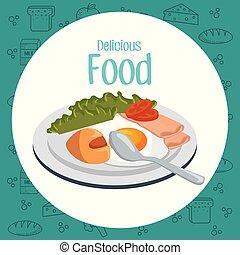 delicious food breakfast menu