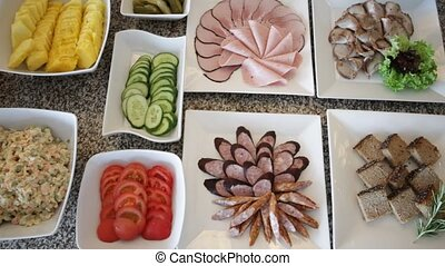 Buffet Table - Delicious Fresh Buffet Table in a Hotel