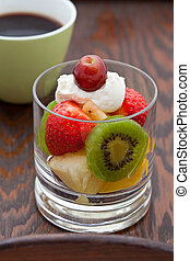 Delicious fresh fruit salad for breakfast