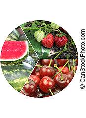 Delicious fresh fruits