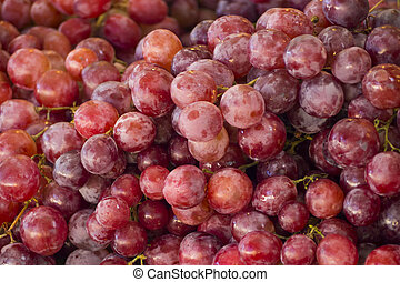 delicious fresh grapes fruits