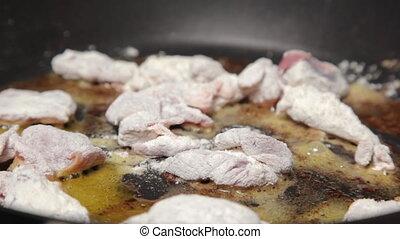 Delicious fried pork