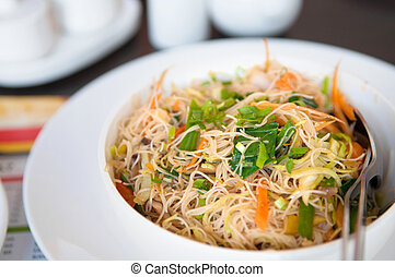 Delicious fried rice noodles - Delicious Singapore fried...