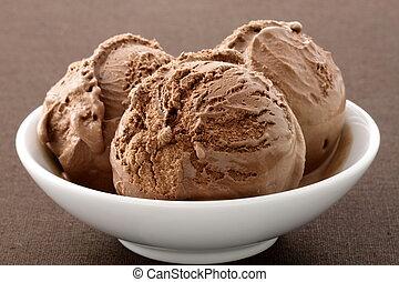 delicious gourmet chocolate ice cream, - real gourmet...