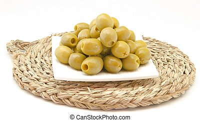 olives - Delicious green pitted olives
