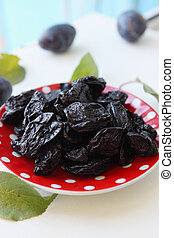 prunes on a plate