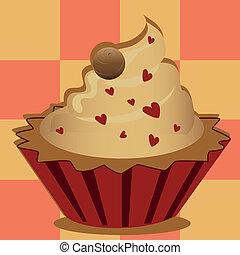 delicious heart cupcake