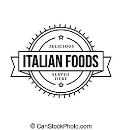 Delicious Italian Foods vintage stamp