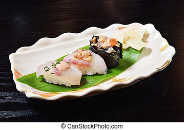 Angler fish sushi
