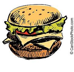 Delicious juicy burger