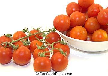 Delicious juicy cherry tomatoes