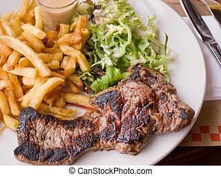 Delicious juicy steak beef meat - juicy steak beef meat with...