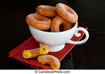 Delicious little donuts made with pumpkin and sugar