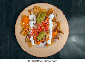Delicious mexican food on a plate