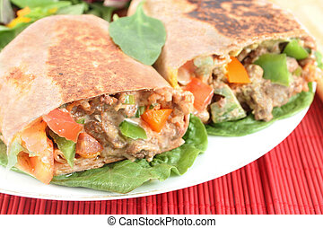 mexican steak burrito - delicious mexican steak burrito with...