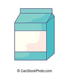 delicious milk box isolated icon