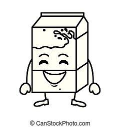 delicious milk box kawaii character
