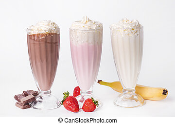 Delicious milkshake on the table