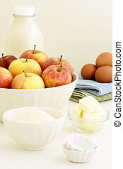 fresh apple pie ingredients