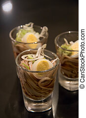 Cold Soba noodles with egg