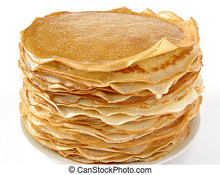delicious pancakes pile on plate