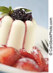 Delicious panna cotta dessert