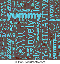 Delicious Pattern - Seamless pattern design with funny...